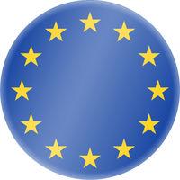 round blue and golden european union symbol