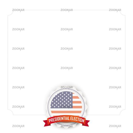 Emblem Ribbon USA Presidential Election