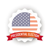 Emblem Ribbon USA Presidential Election White