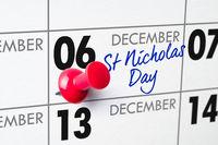 St Nicholas Day Day, December 6