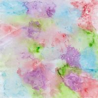 Colorful watercolor painting with splashes of red, purple, blue, green