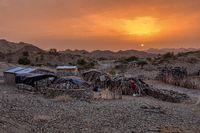 Sunrise landscape Simien mountain Ethiopia