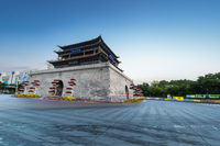 Zhangye drum tower in early morning