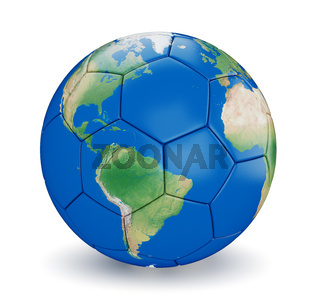 Soccer ball shaped earth