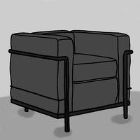 Illustration of a designer armchair