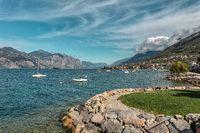 Porto of Brenzone on Lake Garda in Italy