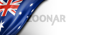Australian flag isolated on white banner