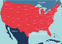 USA vector color map