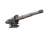 steel gun with cannon barrel