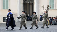 Change of guards in front of Rome Quirinale Palace in Rome