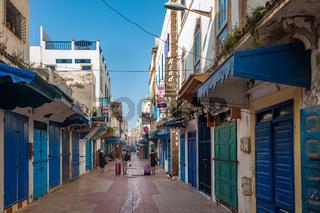 Streets of Essaouira old city, Morocco.