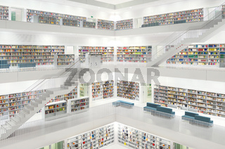 Stuttgart Library beautiful modern library white futuristic in Germany