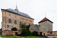 The historic Akershus Fortress in Oslo, Norway