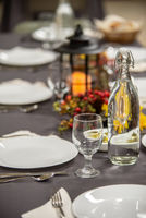table set for an event party or dinner for celebration