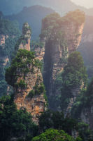 Stunning Mountain formations in Zhangjiajie