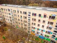 Abandoned Russian military barracks on the forest in Jena Thuringia
