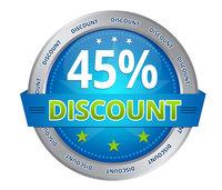 45 percent discount
