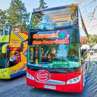 Open-top double-decker City Sightseeing Bus