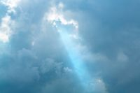 Ray of light through the clouds
