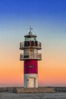 Cabo Ortegal lighthouse on the coast of Galicia at sunrise