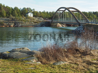 Brücke mit Bomarsund Museum, Aland
