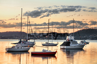 Yachts at Saratoga NSW Australia