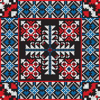 Romanian traditional pattern 202
