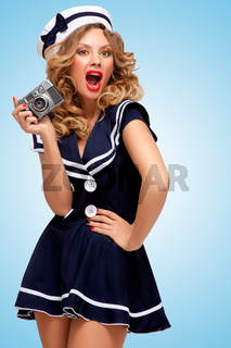Vintage sailor girl.