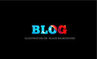 Blog text vector illustration on black
