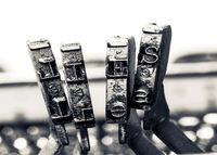 the word lied wit old typewriter typeset