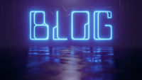 neon light sign blog