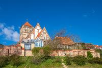 Blick auf die Nikolaikirche in der Hansestadt Rostock