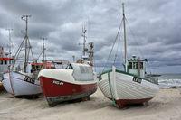 Fishing boats on Loekken beach