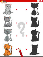 shadow game with funny cats characters