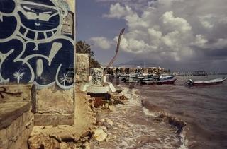 The view to Playa del Carmen's beach