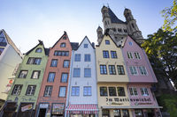 Colored houses at the old town of Cologne