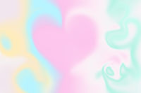 Holographic abstract background with heart
