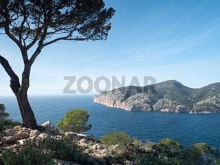View point at torre de Cap Andritxol, Majorca.