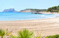 Beach of Moraira, spanish coastal town. Spain