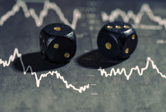 Falling stock prices and dice