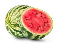Whole and half of watermelon