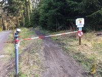 FELDBERG/TAUNUS, GERMANY - March 18 2020: Flow Trail Feldberg closed due to anti-corona virus measures