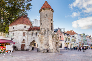 Entrance old town Talinn in Estonia