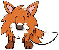 funny fox cartoon wild animal character