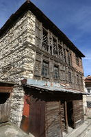 Houses of the Rhodope village of Shiroka Laka, Bulgaria