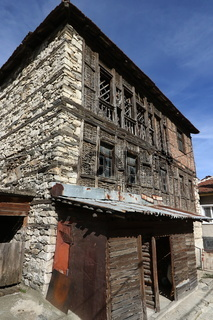 Houses of the Rhodope village of Shiroka Laka
