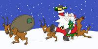 Party Christmas Cartoon, Bringing Santa