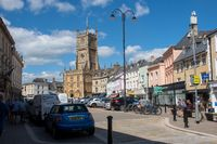 High Street with  Cirencester Church in background