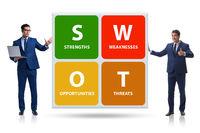 SWOT technique concept for business