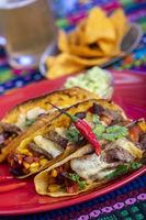 mexikanische Tacos auf einem Teller